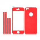 IPH5 Shimmering Frosted AR Full Body Protectors for Iphone 5 - Red