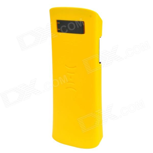 HD-01 Protective Plastic + Silicone Case / Speaker w/ Stand for Iphone 4 / 4S - Yellow + Black