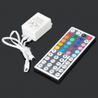 44-Key Wireless IR Remote Controller for RGB LED Light Strip - Grey