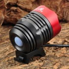 UltraFire 870lm 4-Mode White Bike Light w/ Cree XM-L T6 - Red + Dark Gray (4 x 18650)