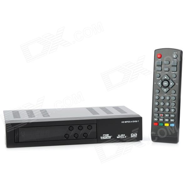 DVB-T8806 DVB-T MPEG4 H.264 HD Digital Terrestrial Receiver w/ Remote Control - Black
