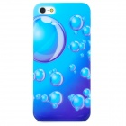 Water Bubble Pattern Protective Plastic Hard Back Case for Iphone 5 - Blue + Purple