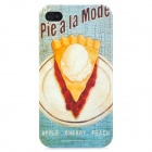 Pie a la Mode Pattern Protective PC Hard Back Case for Iphone 4 / 4S - Light Blue + Light Yellow