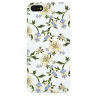 Elegant Flower Pattern Protective Plastic Back Case for Iphone 5 - White + Beige