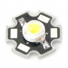 3W 200lm 6500K White Light LED Emitter - Silver + Black (20mm / DC 3.2~3.8V)