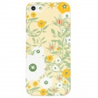 Flowers Pattern Protective Plastic Back Case for Iphone 5 - Light Yellow