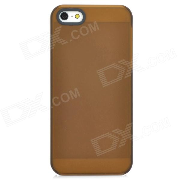 Protective Matte PC Hard Back Case for Iphone 5 - Brown защитный чехол pacha sunrise cherries hard case для iphone 5
