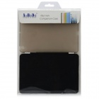 Removable Protective Fiber Front + Plastic Back Case for Ipad MINI - Black + Translucent Grey