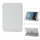 Removable Protective Fiber Front + Plastic Back Case for iPad Mini - White + Translucent