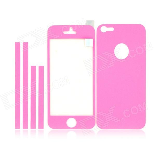 IPH5 Shimmering Frosted AR Full Body Protectors for Iphone 5 - Pink аксессуар чехол xiaomi redmi 4 onext silicone transparent 70500