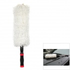 CHIEF Round Flexible Auto Car Truck Microfiber Duster Dirt Cleaning Wash Brush Tool - White
