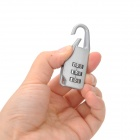 Resettable 3-Digit Combination Padlock w/ Steel Wire - Silver Grey