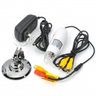 T01 25~400X TV Digital Microscope Magnifier w/ 8-LED White Light - White + Silver