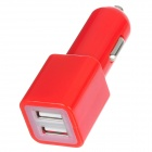 Mini Dual USB Car Cigarette Lighter Plug Charger for Ipad MINI / Ipad 4 / Samsung Galaxy Note - Red
