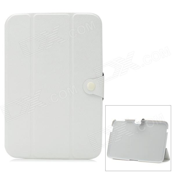 "3-Section Folding PU + PC Case for Google Nexus 10.1"" - White"