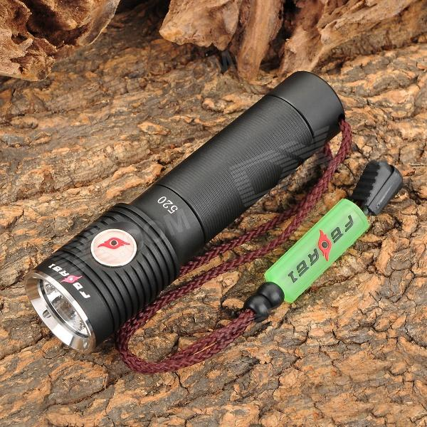 FEREI 520 320lm 3-Mode Memory White USB Powered Flashlight w/ Cree XP-G R5 - Black (1 x 18650) ferei w160а тёплый