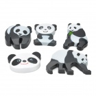 FuNi CT-6699 Cute Panda Pattern Magnets - Black + White (5 PCS)