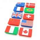FuNi CT-339 National Flag Pattern Magnets (10 PCS)