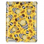 airwalks M-01 Cartoon Donkey Pattern Plastic Back Case for iPad 2 / The New iPad - Yellow