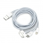 USB to iPhone 30-Pin / 8-Pin Lightning / Micro USB / Samsung 30-Pin Charging Cable - White (1m)