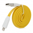 USB to 8 Pin Lightning Flat Charging + Data Cable for iPhone 5 / iPad Mini - Yellow