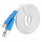 XIAOL-8 Smile Pattern USB to 8-Pin Lightning Data / Charging Flat Cable for iPhone 5/iPad 4 (103cm)