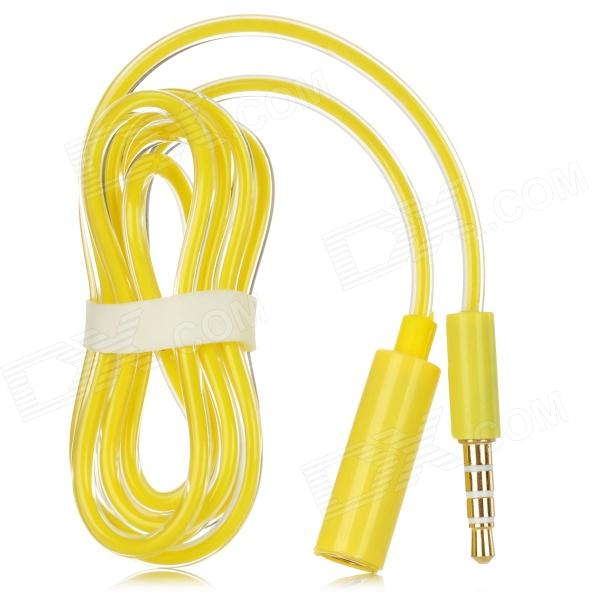 3.5mm 4-Conductor (TRRS) Male to Female Audio Adapter Cable - Yellow