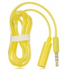 3.5mm 4-Conductor (TRRS) Male to Female Audio Adapter Cable - Yellow (100cm)