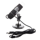 S01 25~200X USB Digital Microscope Magnifier w/ 8-LED White Light - Black + Silver