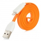 8 Pin Lightning Male to USB Male Data / Charging Cable for iPhone 5 / iPad 4 - Orange (100cm)