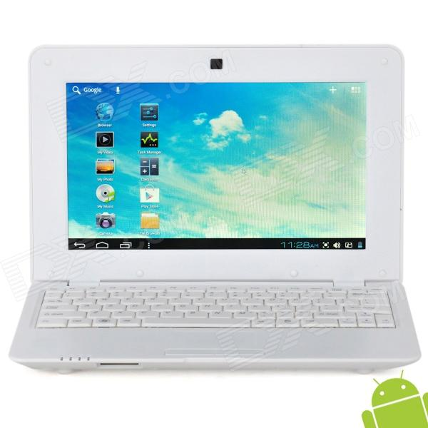 V712 10 Screen Android 4.0 Netbook w/ Wi-Fi / RJ45 / Camera / HDMI / SD Slot - White kingston kvr13lr9d8 8