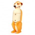 Cartoon Meerkat Figure Style White Light LED Keychains w/ Sound Effect - Yellowish Brown (3 x AG13)