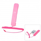 iPega IP092B Retro Style Anti-Radiation Telephone Headset for Ipad / Iphone 4 / 4S / 5 - Deep Pink