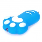 Lovely Cat Paw Style White Light LED Keychain w / Sound Effect - Blau + Weiß (3 x AG13)