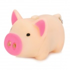 Buy Lovely Pig Style White Light 2-LED Keychain Sound Effect - Beige + Deep Pink (3 x AG13)