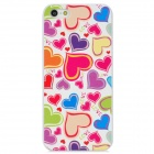 Colorfilm Relief Love Hearts Style Protective Plastic Back Case for Iphone 5 - Multicolored