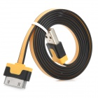 Dual-Color USB 2.0 to 30-Pin Data / Charging Cable - Orange + Black (1m)