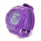 OTS 6232 Water Resistant Rubber Band Electronic Digital Wrist Watch for Children - Purple