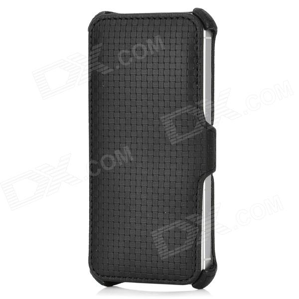 USAMS IP5LTR01 Woven Pattern Protective PU Leather Case for Iphone 5 - Black