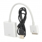 30-pin Male to HDMI Converting Adapter + USB Cable for iPad / iPad 2 + More - Black + White