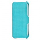 USAMS IP5LTR03 Woven Pattern Protective PU Leather Case for Iphone 5 - Blue Green