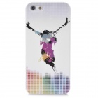 Colorfilm Relief Dancer Music Style Protective Plastic Back Case for Iphone 5 - White + Purple