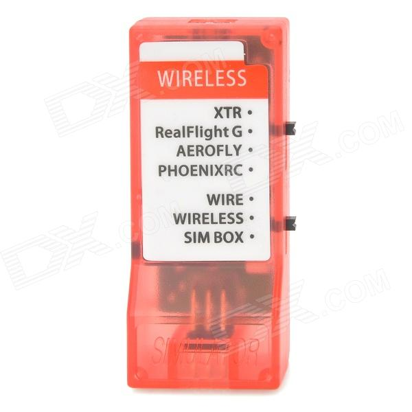 Wireless Simulator w/ JR Servo Cables - Translucent Red 1 x computer cables