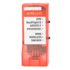 Wireless Simulator w/ JR Servo Cables - Translucent Red