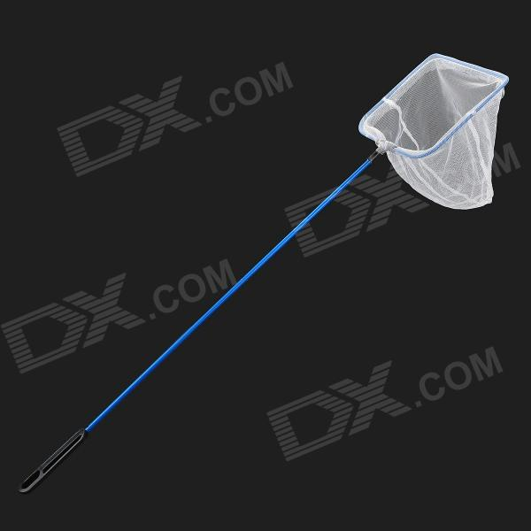 Mini Stainless Steel + ABS Handle Fishing Dip Net - Blue + White + Black