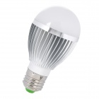TOHDA TH-LED-5-B3 E27 5W 450 ~ 600lm 3500K 10-SMD 5730 LED Warm White Lampe - Silber + Weiß