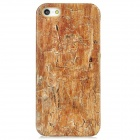Wooden Pattern Plastic Back Case for Iphone 5 - Brown