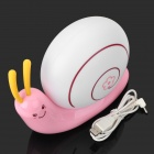 Cute Snail Style 3W 270lm 6500K Rechargeable White LED Desktop Lamp - Pink