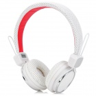 Kanen IP-850 Folding 3.5mm Jack Headset Headphones w/ Microphone for Iphone / BlackBerry - White