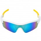 OREKA WG010 Cool UV400 Protection Outdoor Sports Cycling Sunglasses Goggle - White + Yellow